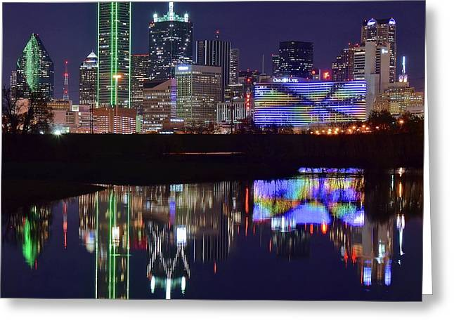 Greeting Card featuring the photograph Dallas Texas Squared by Frozen in Time Fine Art Photography