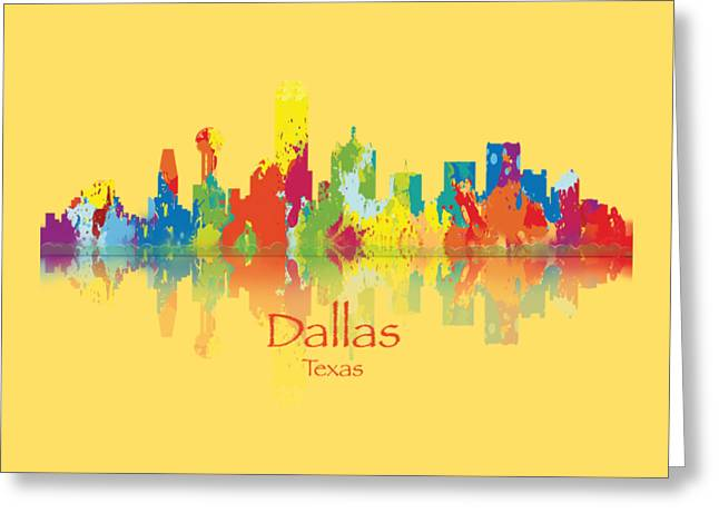 Dallas Texas Tshirts And Accessories Art Greeting Card by Loretta Luglio