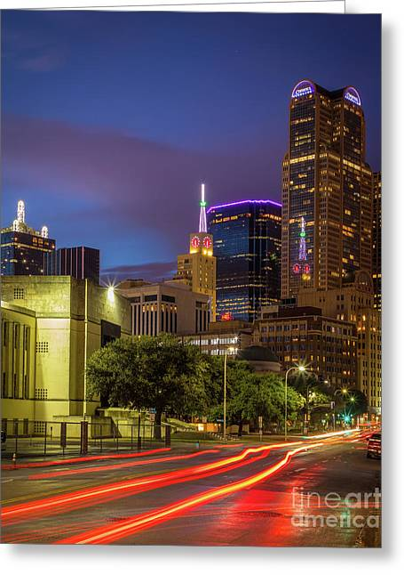 Dallas Trails Greeting Card by Inge Johnsson