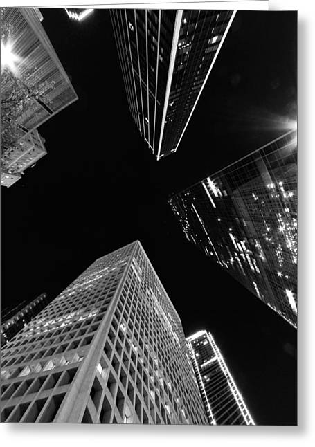 Dallas Up Greeting Card by John Gusky
