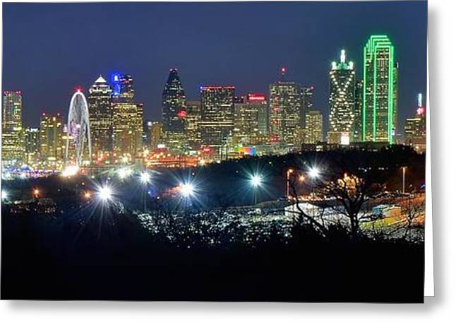 Dallas Wide Angle Greeting Card by Frozen in Time Fine Art Photography