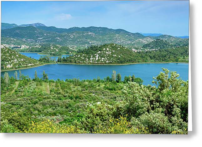 Dalmatian Coast Panorama, Dalmatia, Croatia Greeting Card