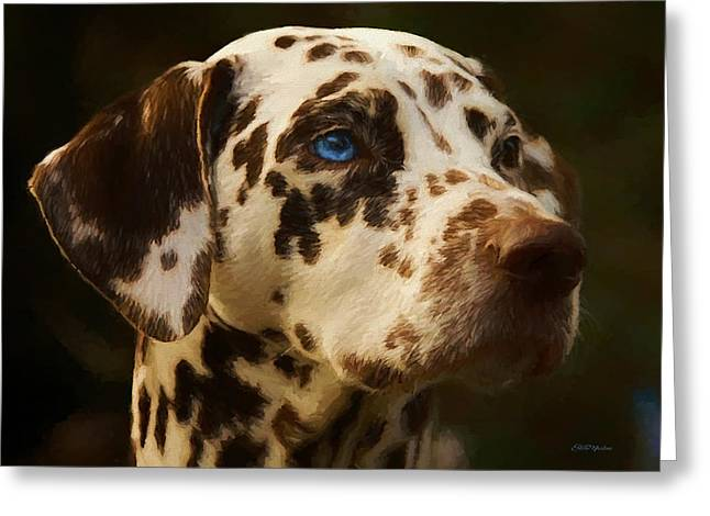 Dalmatian - Painting Greeting Card