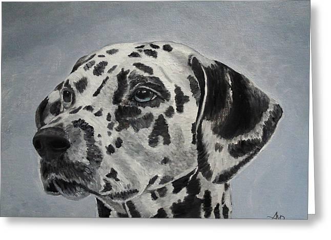 Dalmatian Portrait Greeting Card