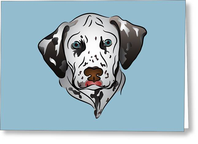 Dalmatian Portrait Greeting Card by MM Anderson