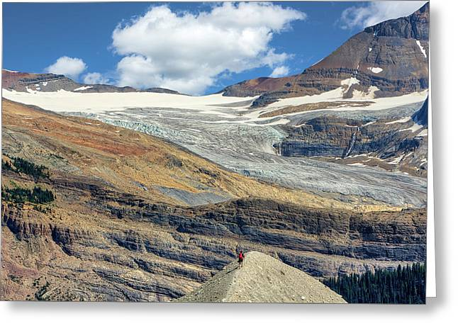 Daly Glacier And Yoho National Park Adventure Greeting Card