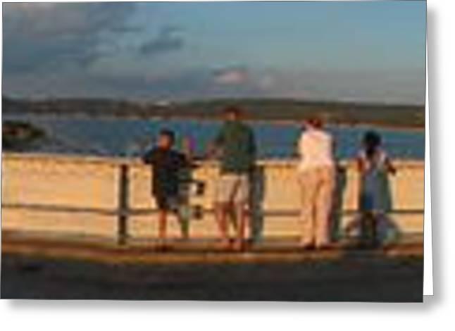 Dam N Lake Travis Panorama Greeting Card by Daniel Henning