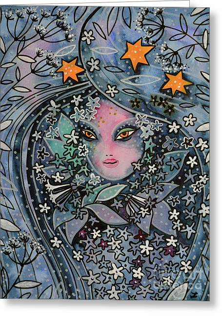 Dama De Noche Greeting Card by Zaira Dzhaubaeva