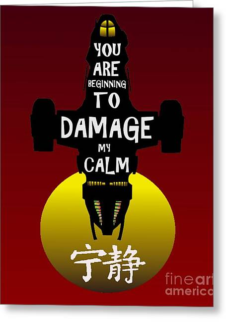 Damage Greeting Card by Justin Moore