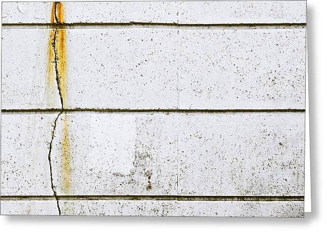 Damaged Stone Wall Greeting Card
