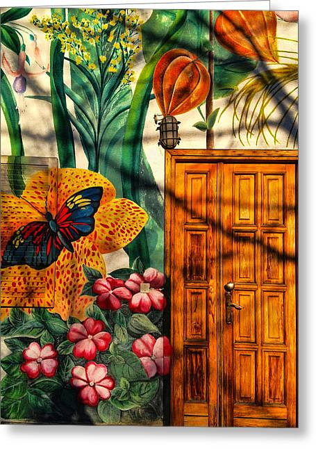 Greeting Card featuring the photograph Damanhur Door by Paul Cutright