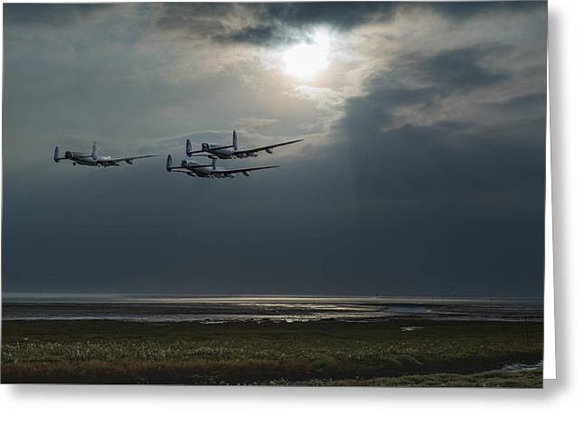 Dambusters Training Over The Wash Greeting Card