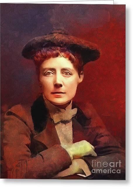 Dame Ethel Smyth, Suffragette And Composer Greeting Card