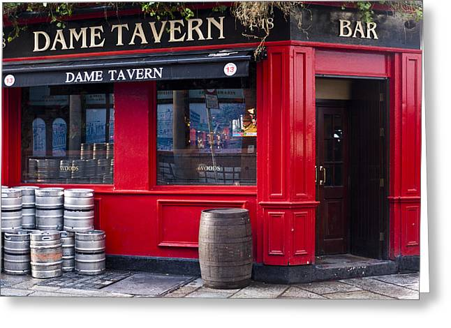 Dame Tavern Greeting Card by Rae Tucker