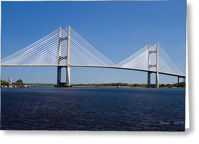 Dames Point Bridge Greeting Card
