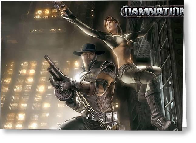 Damnation Game Greeting Card