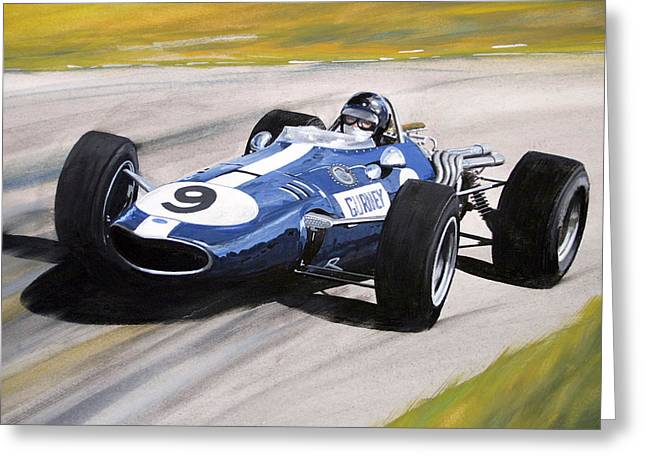 Dan Gurney Eagle Greeting Card