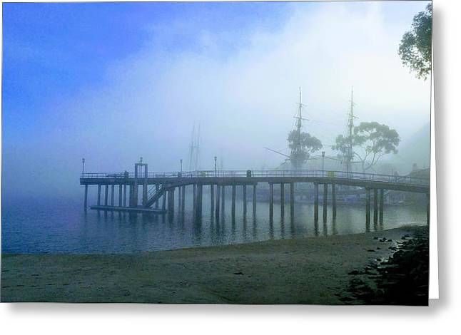 Dana Point Harbor When The Fog Rolls In Greeting Card