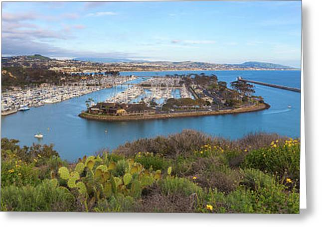 Greeting Card featuring the photograph Dana Point Panoramic by Cliff Wassmann