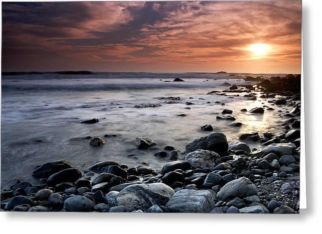 Dana Point Shoreline Greeting Card by Eric Foltz