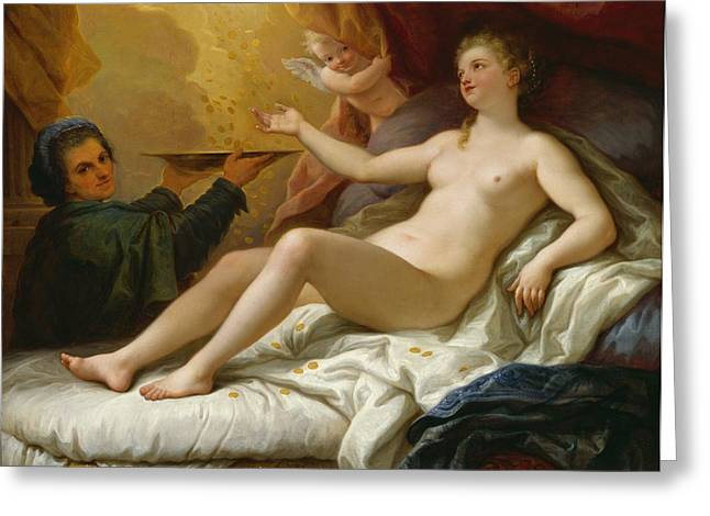 Odalisque Greeting Cards - Danae Greeting Card by Paolo di Matteis