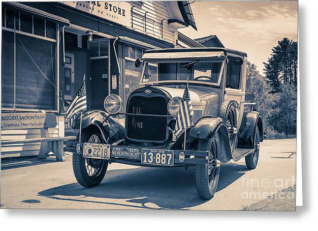 Danbury Country Store Ford Pickup Greeting Card by Edward Fielding