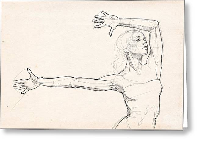 Dance Anatomy Greeting Card by H James Hoff