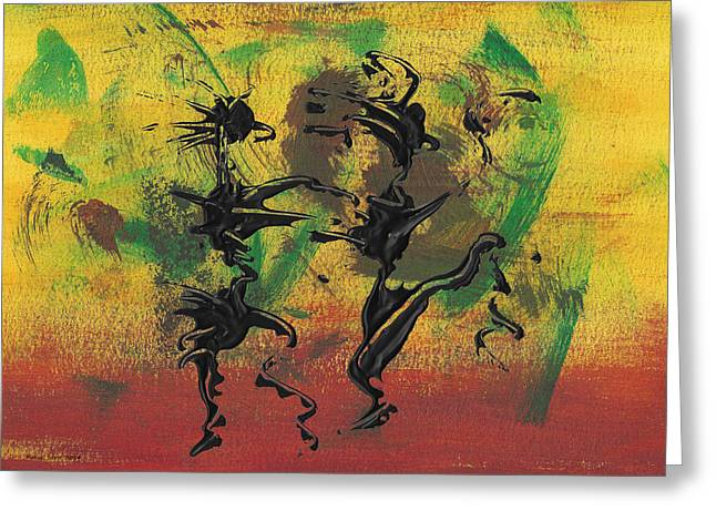 Dance Art Dancing Couple Xi Greeting Card