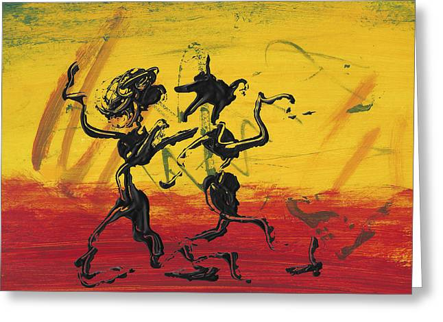 Dance Art Dancing Couple Xii Greeting Card