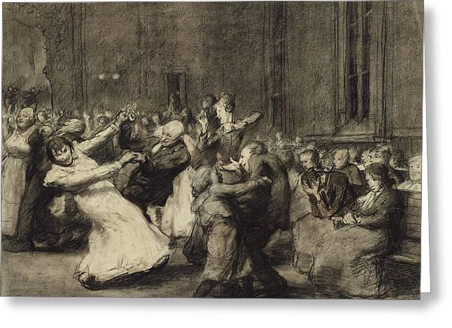 Dance At Insane Asylum Greeting Card