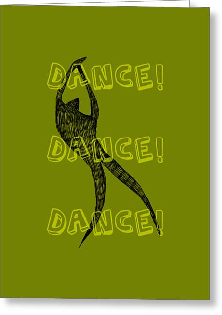 Dance Dance Dance Greeting Card by Michelle Calkins