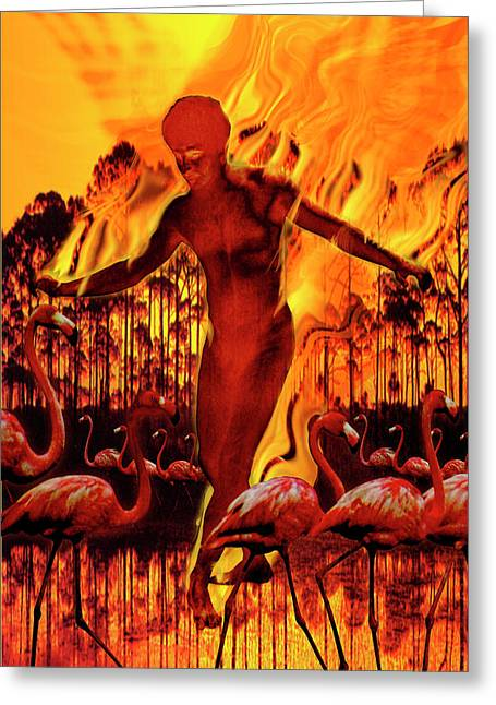 Dance Gabriel Dance Greeting Card by Mark Myers