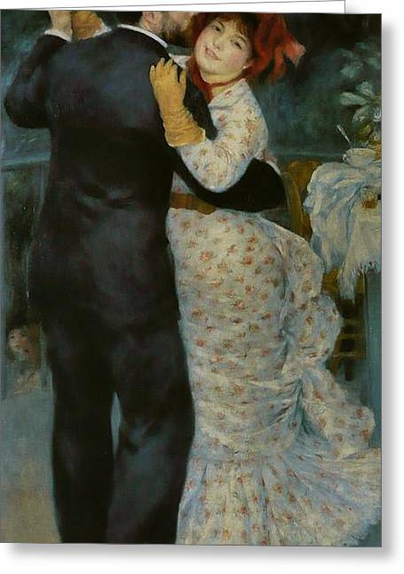Renoir Greeting Cards - Dance in the Country Greeting Card by Extrospection Art