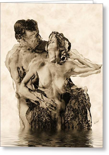 Dance Greeting Card by Kurt Van Wagner