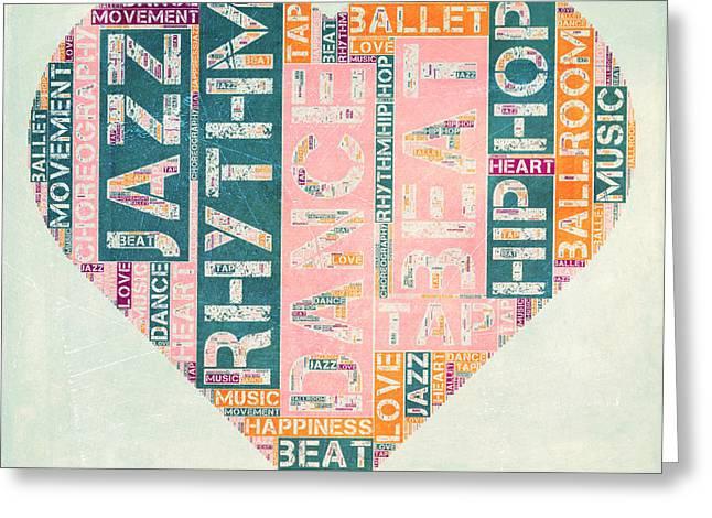 Dance Love Greeting Card by Brandi Fitzgerald
