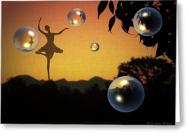 Prima Ballerina Digital Art Greeting Cards - Dance Of A New Day Greeting Card by Joyce Dickens