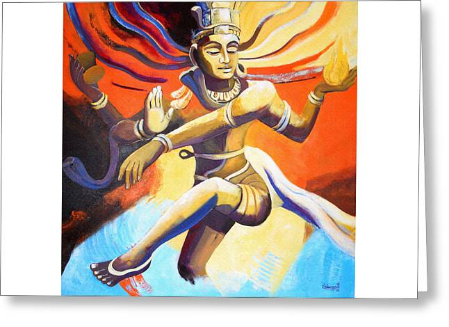 Dance Of Shiva Greeting Card by Vishwajyoti Mohrhoff