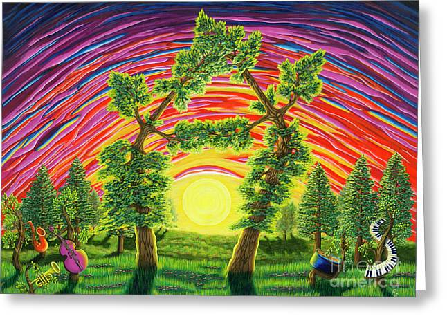 Dance Of Sunset Greeting Card