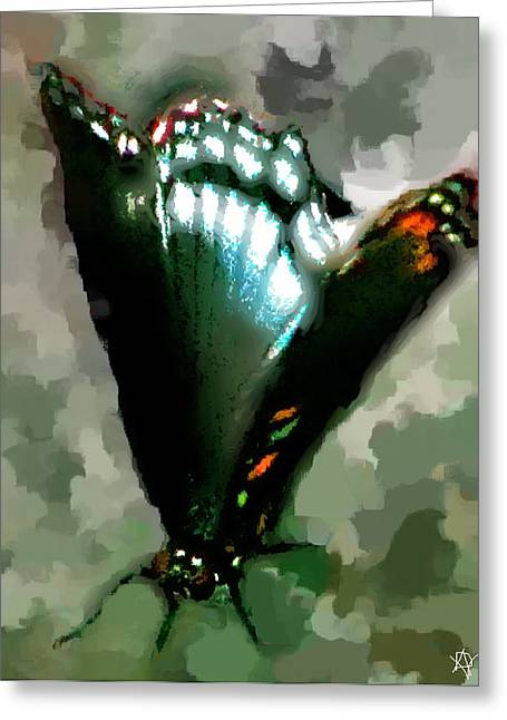 Wildlife Imagery Greeting Cards - Dance Of The Butterfly Greeting Card by Debra     Vatalaro