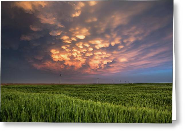 Dance Of The Clouds Greeting Card by Sean Ramsey