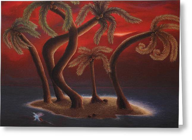 Dance Of The Coconut Palms Greeting Card by Amanda Clark