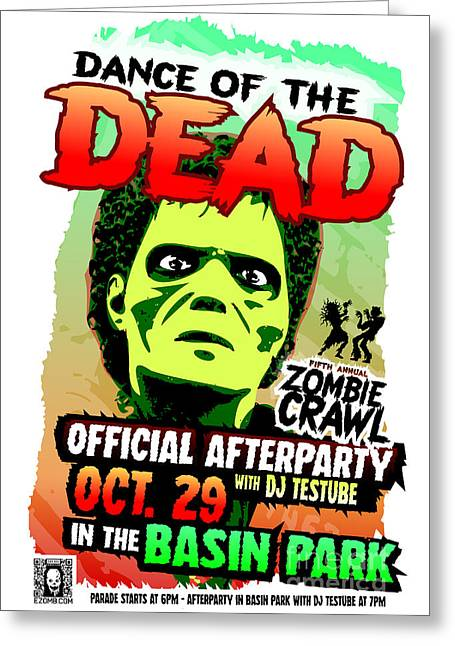 Dance Of The Dead 2016 Poster Greeting Card