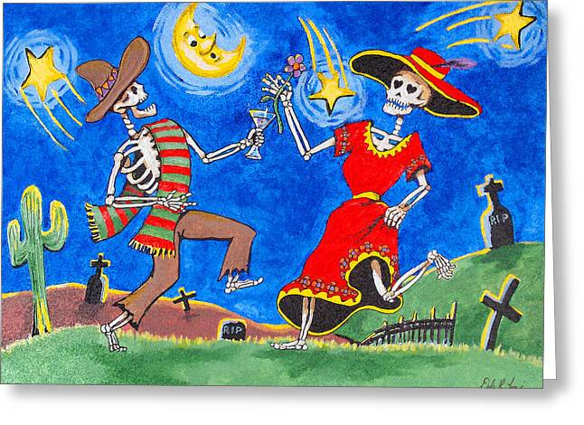 Dance Of The Dead Greeting Card by Dale Loos Jr