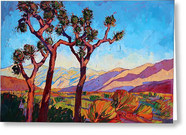 Dance Of The Joshuas Greeting Card by Erin Hanson