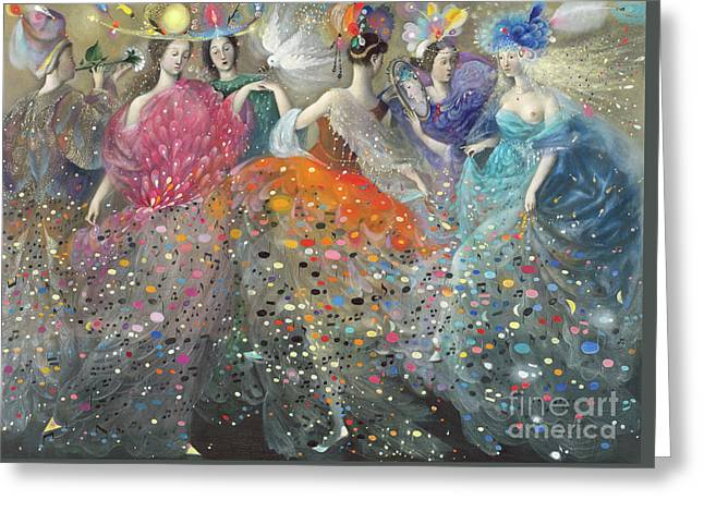 Dance Of The Muses Greeting Card by Annael Anelia Pavlova
