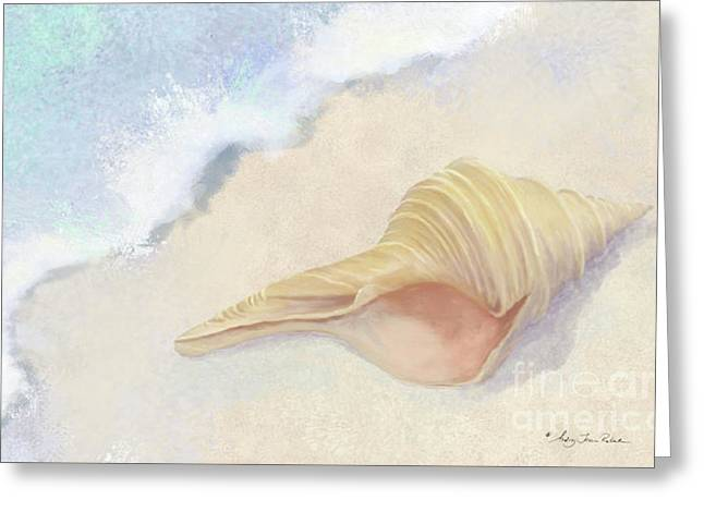 Dance Of The Sea - Australian Trumpet Shell Impressionstic Greeting Card
