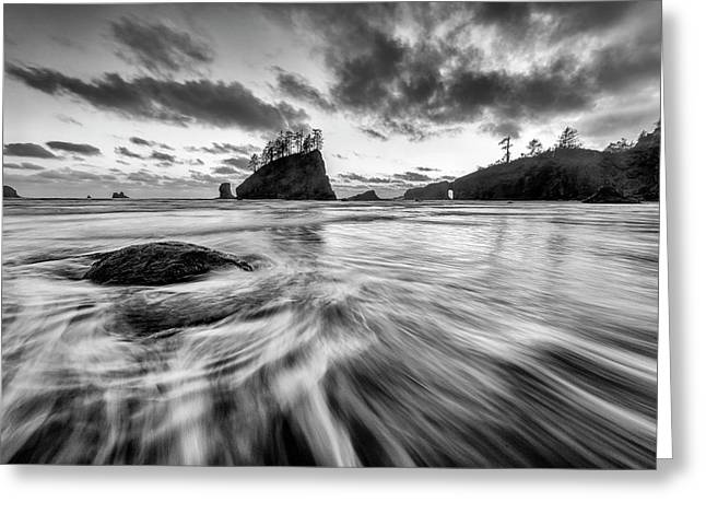 Dance Of The Tides Greeting Card by Mike Lang
