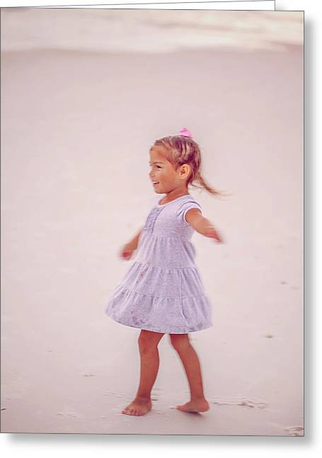 Dance On The Beach Greeting Card
