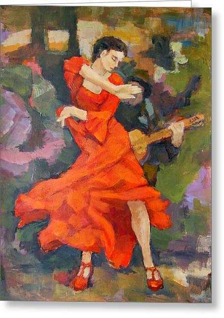 Dance Painting Carmen Greeting Card