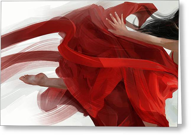 Dance Greeting Card by Steve Goad